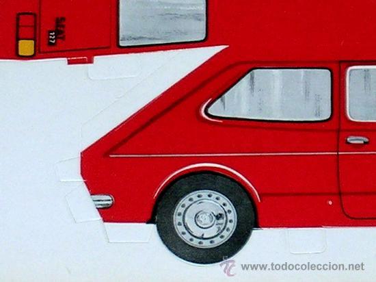 Coleccionismo Recortables: Recortable troquelado Seat 127, tipo Fiat, Gráficas Breogán, Madrid, años 70. - Foto 2 - 252916630