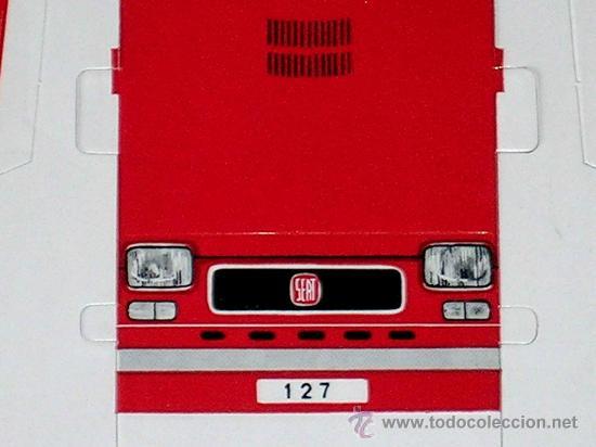 Coleccionismo Recortables: Recortable troquelado Seat 127, tipo Fiat, Gráficas Breogán, Madrid, años 70. - Foto 3 - 252916630