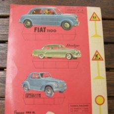 Coleccionismo Recortables: SEAT FIAT 1100, DODGE, FIAT 500 C, PEGASO 102 B RECORTABLES ULTRA Nº 4 EDIT.ROMA 1961. Lote 76023821