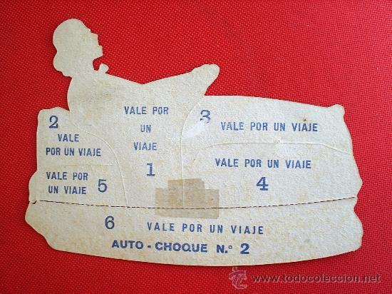 Coleccionismo Recortables: vale-recortable -auto choque ,troquelado , supuestamente del tibidabo 1929 - Foto 2 - 27347395