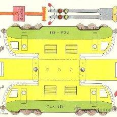Coleccionismo Recortables: LOCOMOTORA DIESEL - RECORTES AZUCENA - TAMAÑO HOJA 25 X 17 CM.. Lote 23438442