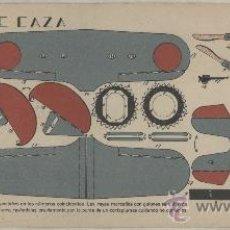 Coleccionismo Recortables: RECORTABLE GUERRA CIVIL ESPAÑOLA. EJÉRCITO REPUBLICANO. AEROPLANO DE CAZA. AÑOS 1937-1938. Lote 26179597