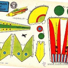 Coleccionismo Recortables: RECORTABLE AERONAVE DEL ESPACIO ED. BRUGUERA. Lote 24153841