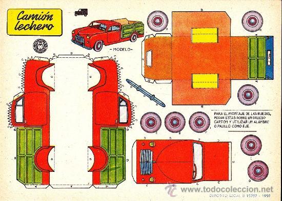 RECORTABLE CAMION LECHERO ED. BRUGUERA (Coleccionismo - Recortables - Transportes)