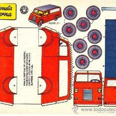 Coleccionismo Recortables: RECORTABLE CAMIONETA MODERNA ED. BRUGUERA. Lote 24153930
