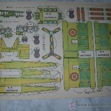 Coleccionismo Recortables: ANTIGUO RECORTABLE BIPLANO DE CON-BEL DE VIRGILI LUIS ESTEBAN - ENVIO GRATIS ESPAÑA. Lote 25199648