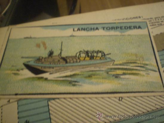 * RECORTABLE:LANCHA TORPEDERA. GAVIOTA (Coleccionismo - Recortables - Transportes)