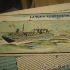 Coleccionismo Recortables: * RECORTABLE:LANCHA TORPEDERA. GAVIOTA. Lote 26466653
