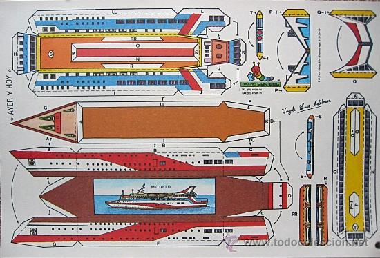 LOTE COMPLETO DE 8 RECORTABLES SERIE TRANSPORTE DE AYER Y HOY. CONBEL. 1990 (VER FOTOS) (Coleccionismo - Recortables - Transportes)