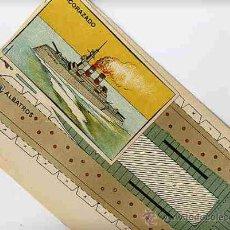 Coleccionismo Recortables: RECORTABLE BARCO ACORAZADO, 2 HOJAS + MUESTRA , ORIGINAL, ANTIGUO . Lote 40560477