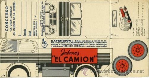 Coleccionismo Recortables: JÁTIVA (VALENCIA).- 10 RECORTABLES CON PUBLICIDAD DE JABONES EL CAMIÓN.- CADA UNIDAD ES.... - Foto 2 - 184209855