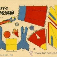 Coleccionismo Recortables: RECORTABLES BRUGUERA 1960. NAVE MARCIANA Y OTROS TRANSPORTES DEL ESPACIO (+4) TAMAÑO 23,7 X 16,4 CM.. Lote 29389864