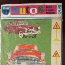 Coleccionismo Recortables: RECORTABLE AUTOS Nº 3.- 5 LÁMINAS DE CARTULINA TAMAÑO 36,5 X 25,5 CM. DENTRO DE UNA BOLSA ........... Lote 29405661