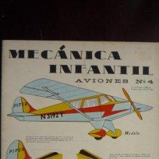 Coleccionismo Recortables: RECORTABLE MECANICA INFANTIL AVIONES Nº 4.- AÑO 1965.- 6 LÁMINAS DE CARTULINA, TAMAÑO 32,5 X 24,5. Lote 29406057