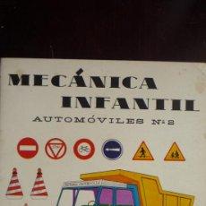 Coleccionismo Recortables: RECORTABLE MECANICA INFANTIL AUTOMÓVILES Nº 2. AÑO 1965.- 6 LÁMINAS DE CARTULINA, TAMAÑO 32,5 X 24,5. Lote 29406134