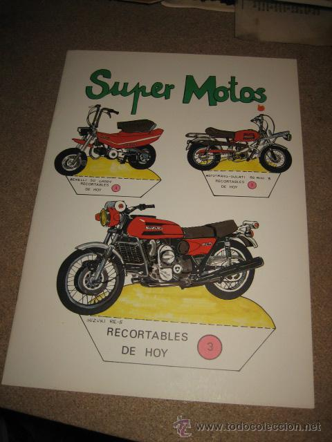 SUPER MOTOS RECORTABLES DE HOY ED.BAUSAN 1979 (Coleccionismo - Recortables - Transportes)