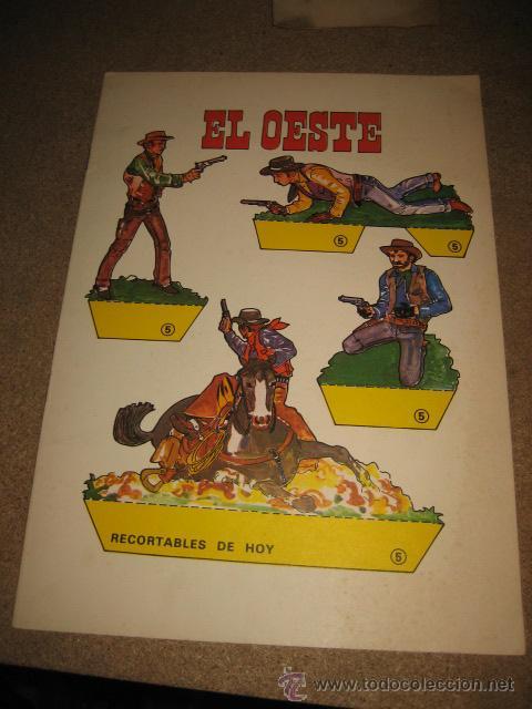 EL OESTE RECORTABLES DE HOY ED.BAUSAN 1979 (Coleccionismo - Recortables - Transportes)