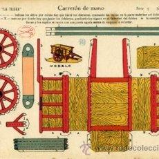 Coleccionismo Recortables: EDICIONES LA TIJERA.- RECORTABLE: CARRETÓN DE MANO.- SERIE 5 Nº 22. Lote 29743904