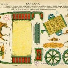 Coleccionismo Recortables: EDICIONES LA TIJERA.- RECORTABLE: TARTANA.- SERIE 5 Nº 1. Lote 29743922
