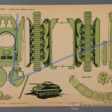 Collectables Paper Dolls - 1 TANQUE M-4 , SHERMAN (USA), RECORTABLES TORAY Nº28. DE 1962. MEDIDAS 40,5X29CM. - 30347776