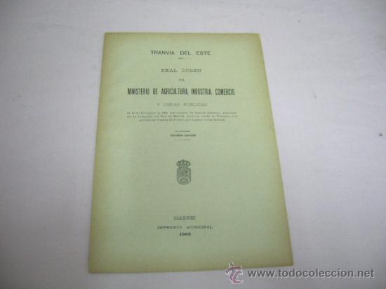 FOLLETO TRANVIA DEL ESTE DE MADRID,AÑO 1906 (Coleccionismo - Recortables - Transportes)