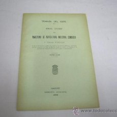 Coleccionismo Recortables: FOLLETO TRANVIA DEL ESTE DE MADRID,AÑO 1906. Lote 30824587