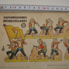 Coleccionismo Recortables: EXPLORADORES INTERESTERALES ANTIGUO RECORTABLE BRUGUERA 1960. Lote 31185172