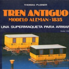Coleccionismo Recortables: RECORTABLE DE TREN ANTIGUO MODELO ALEMAN DE 1835 - ESCALA 1:20 - EDITORIAL EDAF - 1986. Lote 31818294