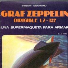 Coleccionismo Recortables: RECORTABLE DEL GRAF ZEPPELIN DIRIGIBLE LZ-127 - ESCALA 1:200 - EDITORIAL EDAF - AÑO 1985. Lote 73856739