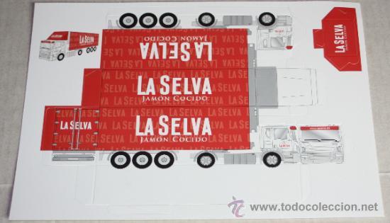 RECORTABLE TROQUELADO: CAMION DE REPARTO (Coleccionismo - Recortables - Transportes)
