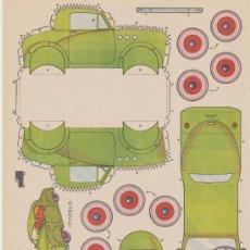 Coleccionismo Recortables: RECORTABLES BRUGUERA /21,5X29) COCHE LIGERO DESCAPOTABLE. AÑO 1959.. Lote 19771627