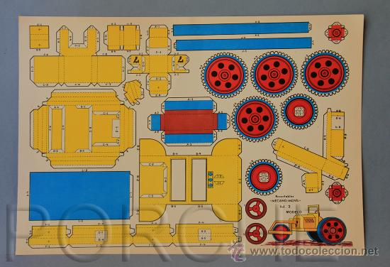 1 RECORTABLE -MECANO MOVIL-REF 2- TAMAÑO GRANDE- 43X30,5CM. (Coleccionismo - Recortables - Transportes)