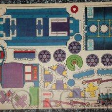 Coleccionismo Recortables: 1 RECORTABLE -MECANO MOVIL-REF 1- TAMAÑO GRANDE- 43X31CM.. Lote 34392062