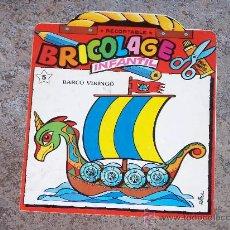 Coleccionismo Recortables: BARCO VIKINGO. BRICOLAGE INFANTIL. Lote 34770599