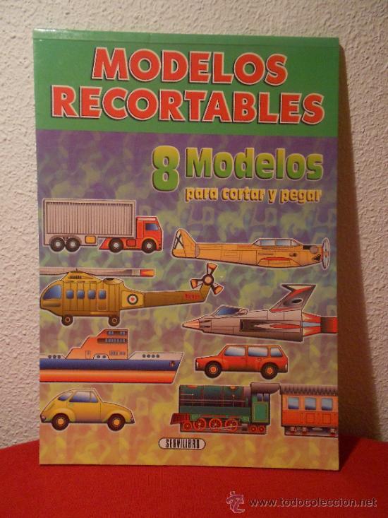 8 MODELOS RECORTABLES DE TRANSPORTES DE SERVILIBRO (Coleccionismo - Recortables - Transportes)