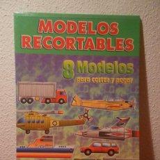 Coleccionismo Recortables: 8 MODELOS RECORTABLES DE TRANSPORTES DE SERVILIBRO. Lote 35001367