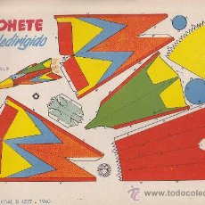 Coleccionismo Recortables: RECORTABLE BRUGUERA 23.50 CMS X 16.50 CMS COHETE TELEDIRIGIDO. Lote 38957242