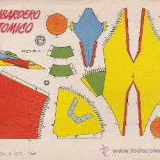 Coleccionismo Recortables: RECORTABLE BRUGUERA 23.50 CMS X 16.50 CMS BOMBARDERO ATOMICO. Lote 38957231