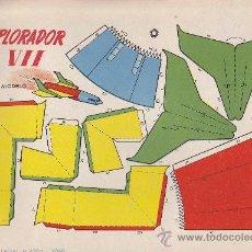 Coleccionismo Recortables: RECORTABLE BRUGUERA 23.50 CMS X 16.50 CMS EXPLORADOR VII. Lote 38957199