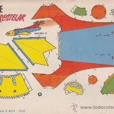 Coleccionismo Recortables: RECORTABLE BRUGUERA 23.50 CMS X 16.50 CMS NAVE INTERESTELAR. Lote 38957183