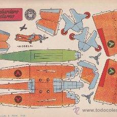 Coleccionismo Recortables: RECORTABLE BRUGUERA 23.50 CMS X 16.50 CMS BOMBARDERO NOCTURNO. Lote 35413021