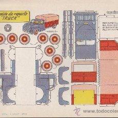 Coleccionismo Recortables: RECORTABLE BRUGUERA 23.50 CMS X 16.50 CMS CAMION DE REPARTO TRUCK. Lote 35413371