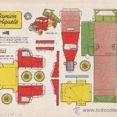 Coleccionismo Recortables: RECORTABLE BRUGUERA 23.50 CMS X 16.50 CMS CAMION VOLQUETE. Lote 35413528
