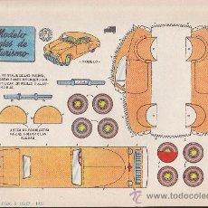 Coleccionismo Recortables: RECORTABLE BRUGUERA 23.50 CMS X 16.50 CMS MODELO INGLES DE TURISMO. Lote 35413537