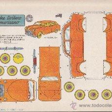 Coleccionismo Recortables: RECORTABLE BRUGUERA 23.50 CMS X 16.50 CMS COCHE TURISMO AMERICANO. Lote 35413556