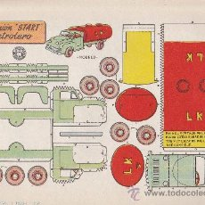 Coleccionismo Recortables: RECORTABLE BRUGUERA 23.50 CMS X 16.50 CMS CAMION START PETROLERO. Lote 35413596