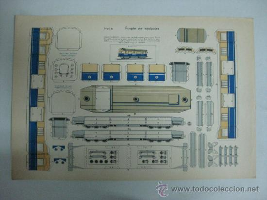 FURGON DE EQUIPAJES - Nº 6 - AÑOS 40 - ED. URIARTE, ZARAGOZA (Coleccionismo - Recortables - Transportes)