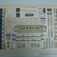 Coleccionismo Recortables: VAGON PULLMAN - Nº 5 - AÑOS 40 - ED. URIARTE, ZARAGOZA. Lote 77288871