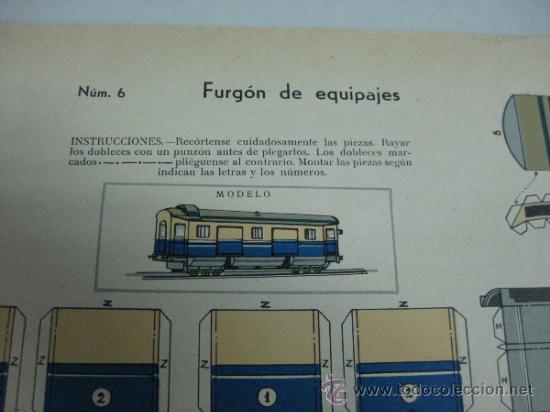 Coleccionismo Recortables: FURGON DE EQUIPAJES - Nº 6 - AÑOS 40 - ED. URIARTE, ZARAGOZA - Foto 2 - 77288993