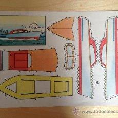 Coleccionismo Recortables: RECORTABLE LANCHA MOTORO MODELO PLA. Lote 36394560